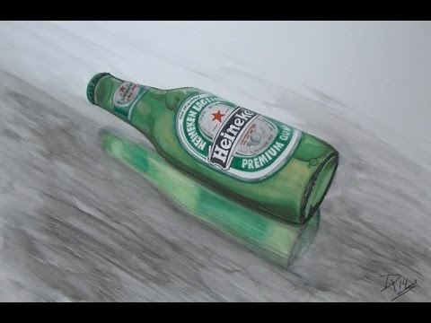 Beer Bottles Drawing Drawing Time Lapse a Bottle