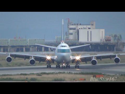 Cathay Pacific Airways Cargo Boeing 747-400F (B-HUP) landing at KIX/RJBB (Osaka - Kansai) RWY 06R