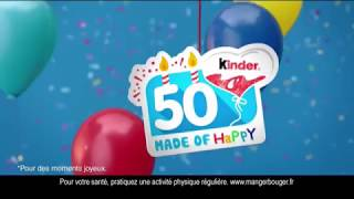 Pub Kinder Made of Happy 50 ans - Pub KINDER 50 ans - 2018