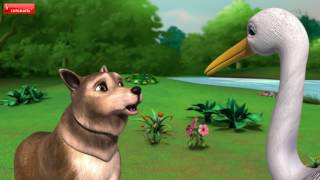 Moral Stories for Kids Bengali | The Wolf and the Crane | Infobells