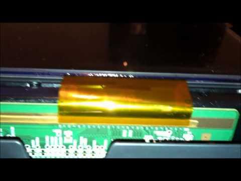 sanyo dp42849 vertical bar problem fix