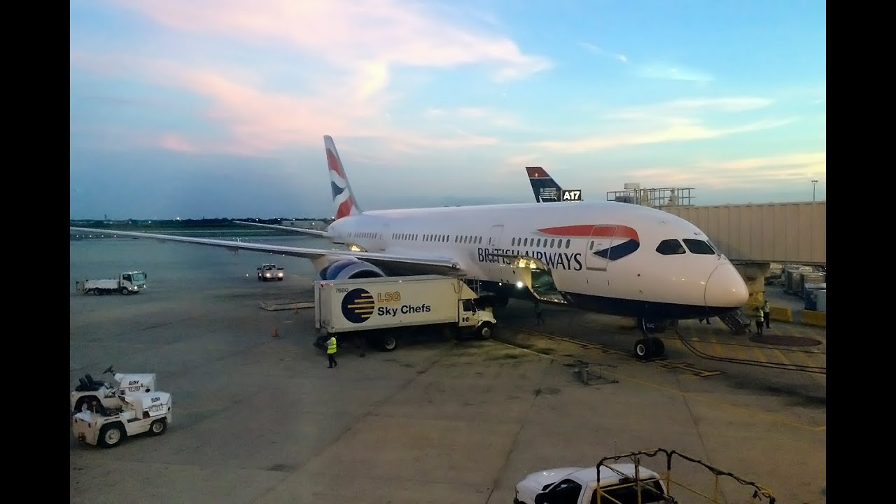 London Taxi Service >> British Airways | 787 Dreamliner | LHR-PHL | World Traveller Plus - YouTube