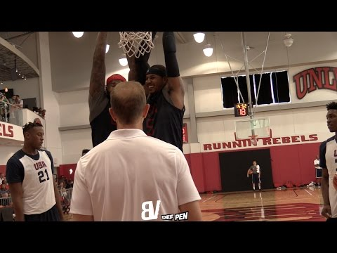 Carmelo Anthony & Demarcus Cousins Hanging Together | Cute Team USA Moment