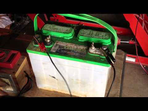 Lead Acid Battery Desulfation Using Epsom Salt  -After Overnight Full Charge   Part 4 of 6