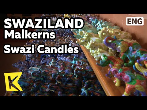【K】Swaziland Travel-Malkerns[스와질란드 여행-말컨스]양초, 스와지 캔들/Swazi Candles/Rhinoceros/Handmade/Craftsman/Art