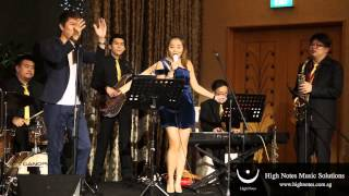 Tricia Zhou performs 爱拼才会赢 Ai Piah Cia Eh Yia with The Summertimes Hotshots