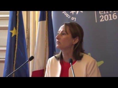 #ConfEnvi2016 Point Presse de Ségolène Royal après la première journée de travail