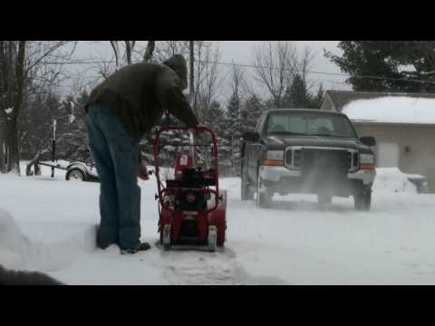 Tecumseh Snow King Carburetor Repair Video on Troy-Bilt Snow Blower part #7