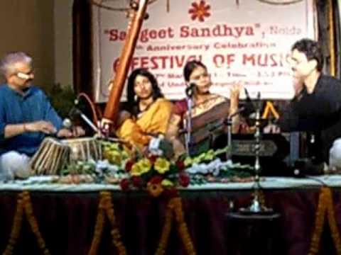 Nabanita Chowdhury sings Thumri in Raag Charukeshi.