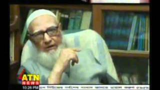 Professor Ghulam azam exclusive interview about war crime.mp4