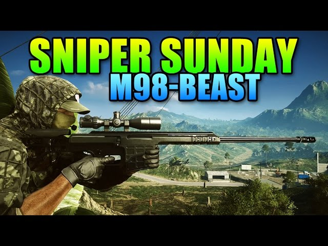 Sniper Sunday - M98B Heavy Hitting Classic Power! | Battlefield 4 Sniper Gameplay
