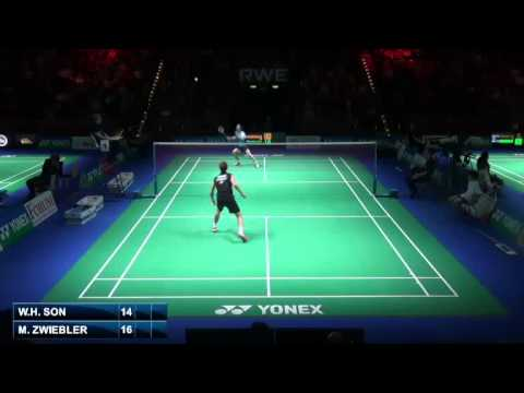 Qf - Ms - Marc Zwiebler Vs Son Wan Ho - 2014 German Badminton Open video