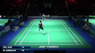 QF - MS - Marc Zwiebler vs Son Wan Ho - 2014 German Badminton Open