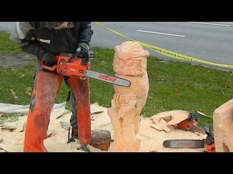 Фигуры из дерева бензопилой своими руками
