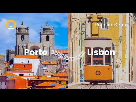 InterRail - Train Route From Porto to  Lisbon