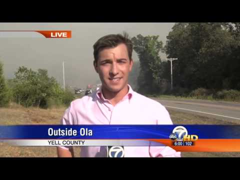 KATV's Justin Lewis reports on a wildfire threatening the Yell County, AR residents of Ola & Berta. Aired on Channel 7 on July 25, 2012.
