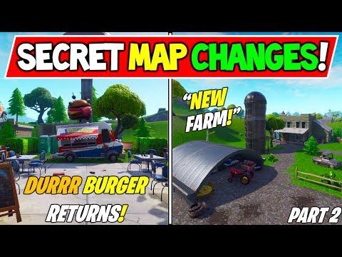 ALL *NEW* FORTNITE SEASON 7 SECRET MAP CHANGES! New Farm! V7.00 Season 7 Storyline!) - Part 2