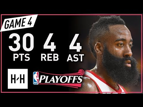 James Harden Full Game 4 Highlights vs Warriors 2018 NBA Playoffs WCF - 30 Pts, 4 Ast, 4 Reb!