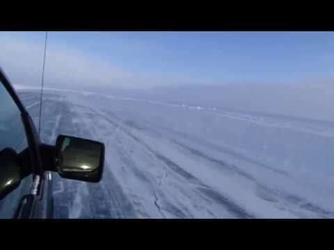 Driving Over the Frozen Arctic Ocean via the Inuvik to Tuktoyaktuk Ice Road