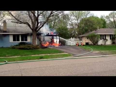 House fire in apple valley