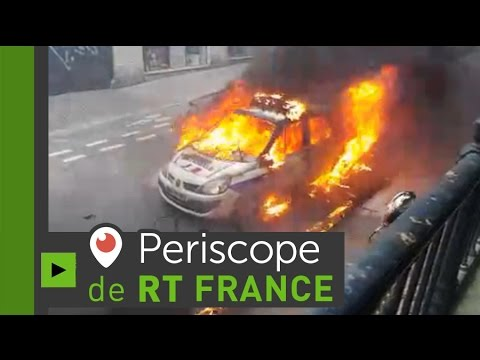 Paris : une voiture de police incendiée dans une manifestation contre «l'impunité policière»