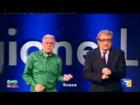 CROZZA CANTA 'COME LEADER SONO GROTTESCO..'