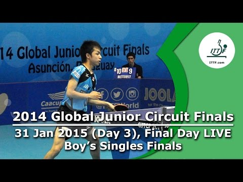 2014 ITTF Global Junior Circuit Finals - Day 3 LIVE, Junior Boys Final