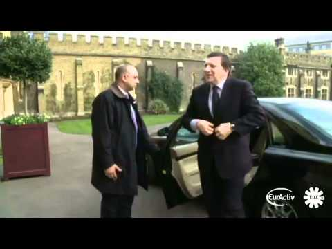 Barroso meets UK PM Cameron in London (raw video)