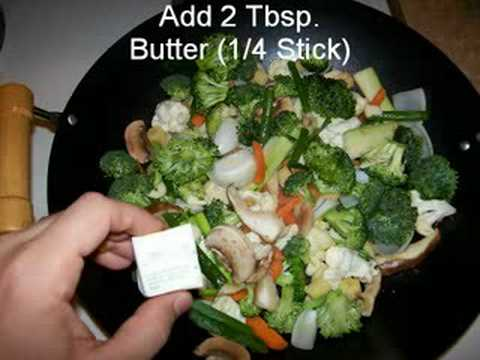 Video Recipe: Vegetable Stirfry in white sauce.. Easy Fast