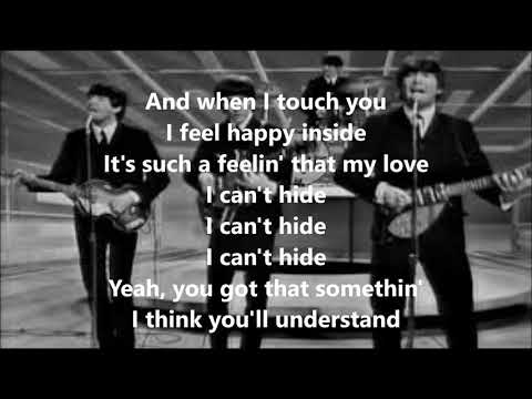I want to hold your hand with lyrics(The Beatles)
