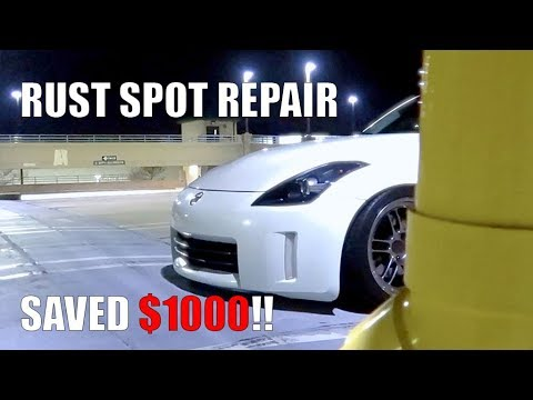 350Z DIY RUST SPOT REPAIR!!