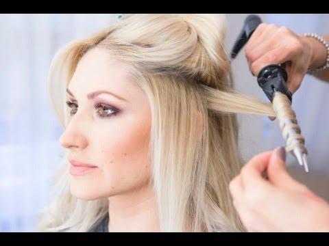 Видео как правильно крутить волосы