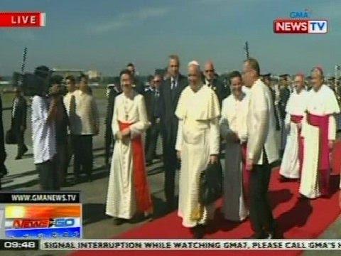 NTG: Pope Francis, paalis na papuntang Roma