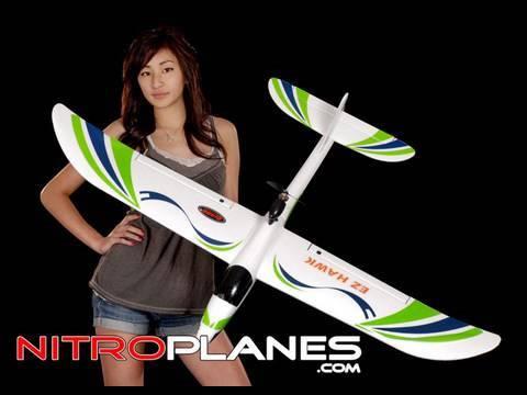 EZ Hawk Electric 3 Channel RTF Brushless/Lipo RC Glider (Green)