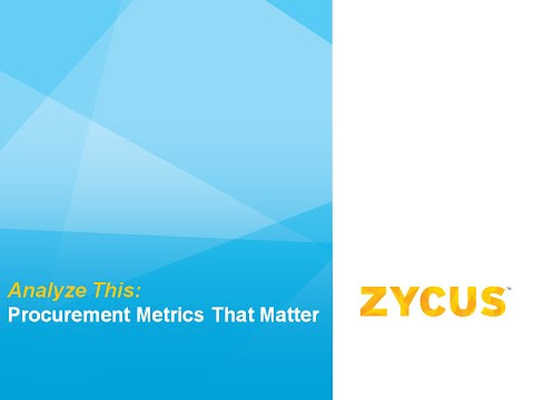 Analyze This: Procurement Metrics That Matter