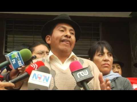 Organizaciones sociales se concentraron en la CC para expresar su rechazo al Decreto 16