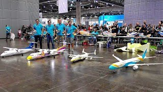 4 HUGE RC LIGHTWEIGHT AIRLINER !!! GIGANTIC INDOOR RC FLIGHT SHOW !!! STUNNING AMAZING INCREDIBLE