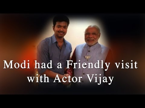 Modi had a Friendly visit with Actor Vijay