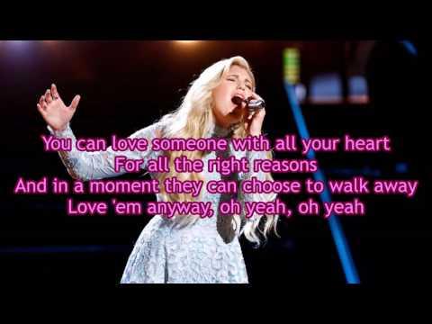 Brennley Brown  Anyway The Voice Performance  Lyrics