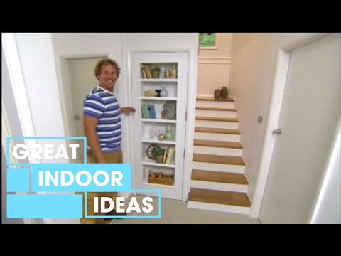 Better Homes and Gardens - DIY: Bookshelf in a door