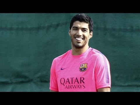 Luis Suarez | First Training with Barcelona 2014