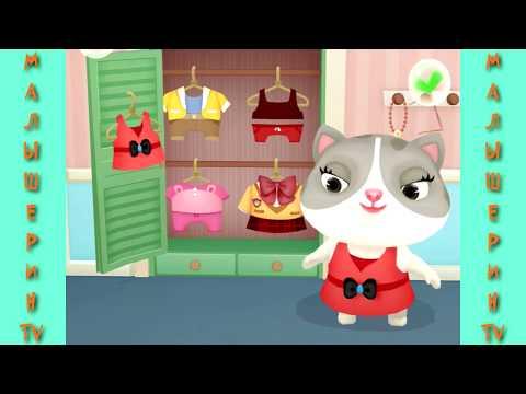 Мультик про животных Милая кошечка и панда веселятся Мультик для детей #малышерин