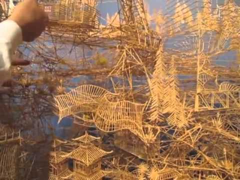 Rolling through the Bay -100,000 toothpicks sculpture