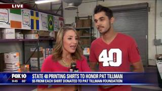 T-shirts printed to benefit Pat Tillman Foundation