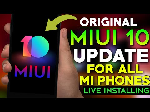 MiUI 10 Update Install On ALL MI PHONES || Without Computer || Live Video