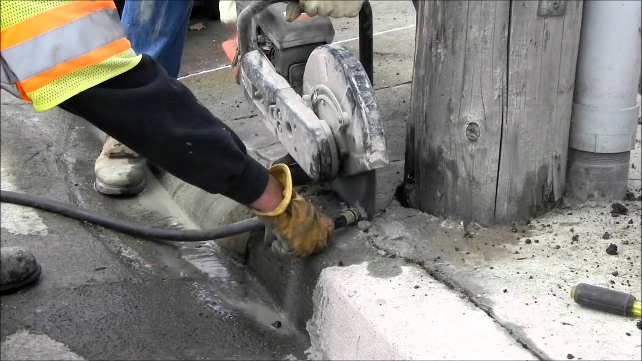 Small Concrete Cutting Saw Youtube