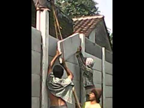Cara Pemasangan Pagar Panel Beton tinggi 2,8m