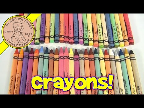 Vintage 70's-80's Crayola Crayons - Review of all the crayon colors