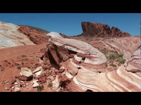 Valley of Fire State Park with fire wave