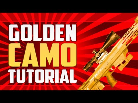 How To Get Gold Camo DSR 50 (Black Ops 2 Tutorial)